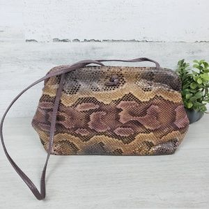 Bags by Varon Snakeskin Embossed Evening Clutch